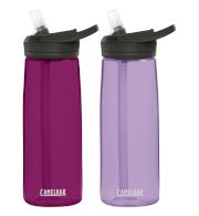 Zestaw dwóch butelek turystycznych Eddy + 750 ml Camelbak fioletowa i różowa