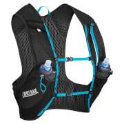 Kamizelka dla biegaczy z wentylacją Nano Vest (1) L z dwoma bidonami Quick Stow Flask 500ml czarna Camelbak