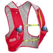 Kamizelka dla biegaczy z wentylacją Nano Vest (1) L z dwoma bidonami Quick Stow Flask 500ml czerwona Camelbak