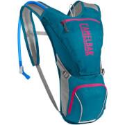 Damski przewiewny plecak rowerowy Aurora z bukłakiem Crux 2,5L błękitny Camelbak