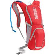 Praktyczny plecak rowerowy Ratchet 100 oz z bukłakiem Crux 3L czerwony Camelbak