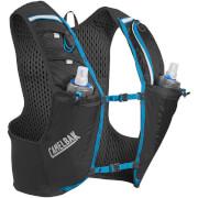 Wentylowana kamizelka biegowa Ultra Pro Vest L 34 oz z dwoma bidonami Quick Stow Flask 500 ml czarna Camelbak