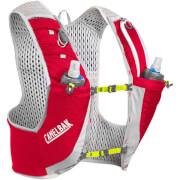 Kamizelka do biegania Ultra Pro Vest M czerwona Camelbak z dwoma bidonami Quick Stow Flask 500 ml