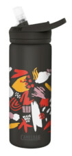 Wygodna butelka termiczna Eddy+ Vacuum Insulated 600ml czarna ze wzorem Camelbak