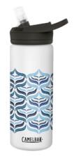 Wygodna butelka termiczna Eddy+ Vacuum Insulated 600ml biała ze wzorem Camelbak