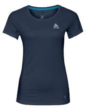 Antybakteryjna koszulka damska Odlo TOP Crew neck s/s OMNIUS F-Dry granatowa