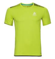 Techniczna koszulka Odlo dla biegaczy męska Top Crew neck s/s Omnius Print F-Dry zielona