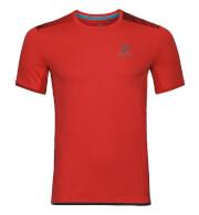 Techniczna koszulka Odlo dla biegaczy męska Top Crew neck s/s Omnius Print F-Dry czerwona