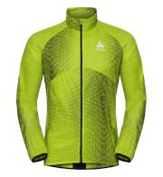 Wiatroszczelna kurtka Odlo Jacket OMNIUS Light C/O męska zielona