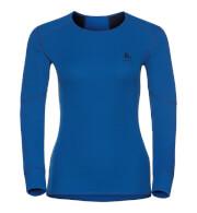Damska koszulka termoaktywna Odlo Shirt Is Crew Neck Active Originals X-Warm niebieska