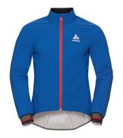 Oddychająca rowerowa kurtka Odlo Jacket Tyfoon C/O niebiesko czerwona męska