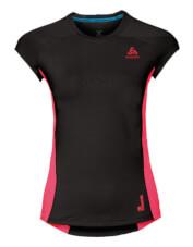 Damska koszulka szybkoschnąca Odlo Crew neck s/s Ceramicool pro czarno różowa