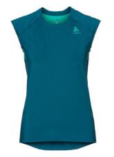 Damska koszulka sportowa Odlo Top Crew neck s/s Ceramicool niebieska