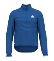 Oddychająca rowerowa kurtka Odlo Jacket Tyfoon C/O niebieska męska