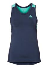 Damska koszulka sportowa Odlo Top Crew neck Singlet Ceramicool granatowa