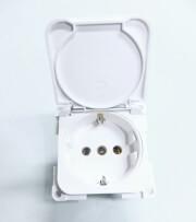 Gniazdo elektryczne schuko 250v 10 16a białe Fawo