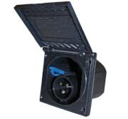 Gniazdo kempingowe 230V CEE 17 zasilające czarne Fawo