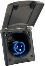 Gniazdo 230V CEE z magnetycznym zamknięciem czarne Fawo