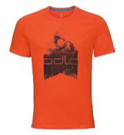 Szybkoschąca uniwersalna koszulka Odlo BL TOP Crew Neck S/S Nikko Logo męska czerwona