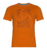 Szybkoschąca uniwersalna koszulka Odlo BL TOP Crew Neck S/S Nikko Logo męska pomarańczowa