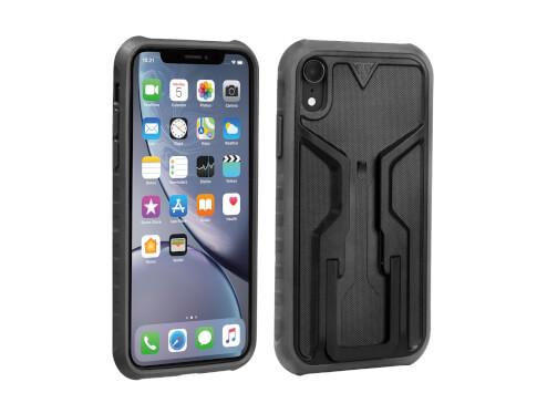 Uchwyt na telefon iPhone XR Ridecase Topeak czarny szary