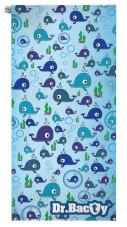 Antybakteryjny ręcznik szybkoschnący XL Wieloryb Dr Bacty