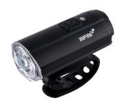 Wodoodporna lampa rowerowa przednia z sensorem światła Tron 500 Black USB Infini