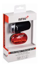 Wodoodporny zestaw oświetlenia rowerowego Luxo & Vista Set Infini
