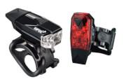 Wodoodporny zestaw oświetlenia rowerowego Mini Lava Set USB Infini