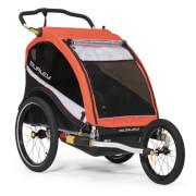 Praktyczna przyczepka dziecięca do roweru Cub X Atomic Red Burley