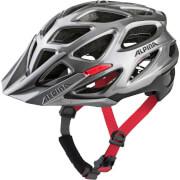 Trwały kask rowerowy Mythos 3.0 darksilver black red Alpina