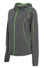 Szybkoschnąca damska bluza turystyczna Marion szaro zielona Viking