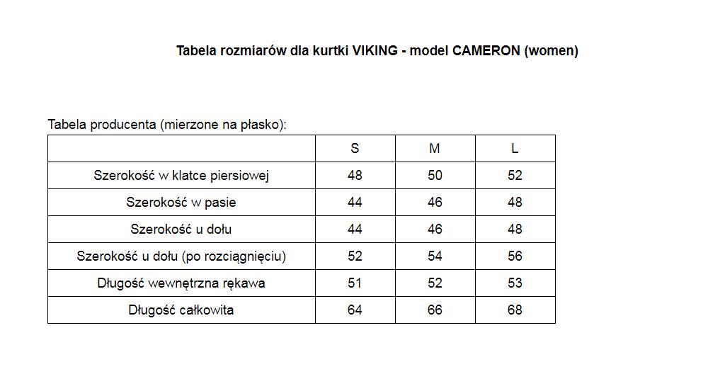 Kurtka damska dwustronna Viking Primaloft Cameron
