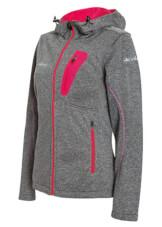 Trekkingowa kurtka damska softshell Marion Jacket szaro różowa Viking