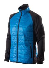 Ocieplana kurtka trekkingowa męska Primaloft Bart czarno niebieska Viking