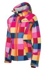 Ciepła kurtka damska Softshell Pixel różowa Viking
