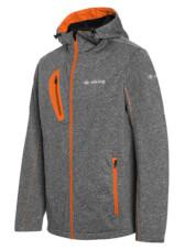 Trekkingowa ocieplana kurtka męska Robin Jacket szaro pomarańczowa Viking