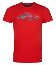 Męska koszulka sportowa Zajo Bormio T-shirt SS Racing Red Peak