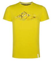 Męska koszulka sportowa Zajo Bormio T-shirt SS Citronelle Peak