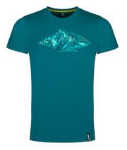 Męska koszulka sportowa Zajo Bormio T-shirt SS Deep Lagoon Peak