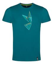 Męska koszulka bawełniana Zajo Bormio T-shirt SS Deep Lagoon Rabbit