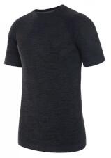 Termoaktywna bezszwowa koszulka męska Flynn Top czarna Viking