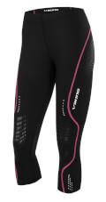 Dopasowane sportowe spodnie damskie Ingrid Capri czarno różowe Viking