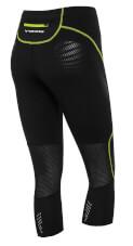 Dopasowane sportowe spodnie damskie Ingrid Capri czarno zielone Viking