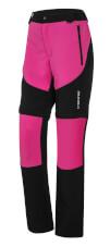 Praktyczne spodnie trekkingowe damskie Colorado Lady czarno różowe Viking