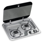 Dwupalnikowa kuchenka karawaningowa ze szklaną pokrywą HBG 2335 Dometic