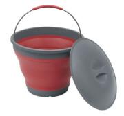 Turystyczne składane wiaderko z pokrywką Collaps Bucket czerwone Outwell