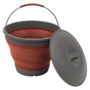 Turystyczne składane wiaderko z pokrywką Collaps Bucket bordowe Outwell