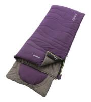 Turystyczny śpiwór dziecięcy Contour Junior Eggplant Purple fioletowy Outwell