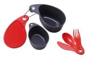 Biwakowy zestaw naczyń turystycznych Field Cup Set czerwony Primus